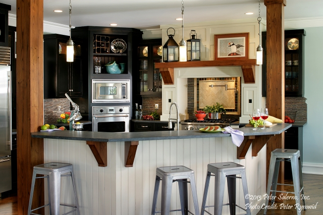 A beautiful summer kitchen in Lavallette designed by Peter Salerno. (Photo: Peter Rymwid)