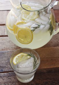 Refresh your summer guests with rosemary lemonade.