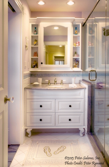 Update your beach house bathroom to be sleek, stylish and inviting.