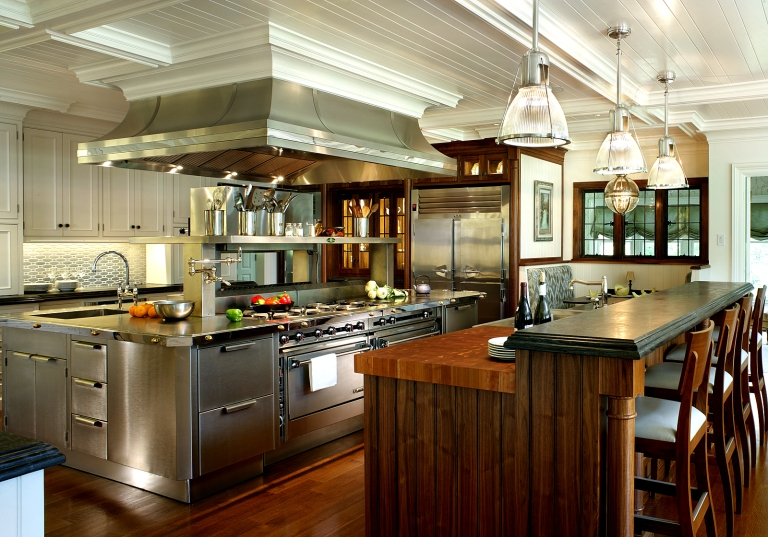 Peter Salerno's NKBA Best Kitchen of 2012, with a custom hood from RangeCraft.