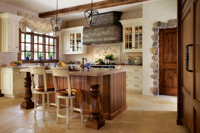 A Peter Salerno Inc. custom kitchen design, with French inspirations.(Credit Peter Rymwid)