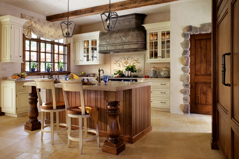 Another Peter Salerno Inc. custom kitchen design, with French inspirations.(Credit Peter Rymwid)