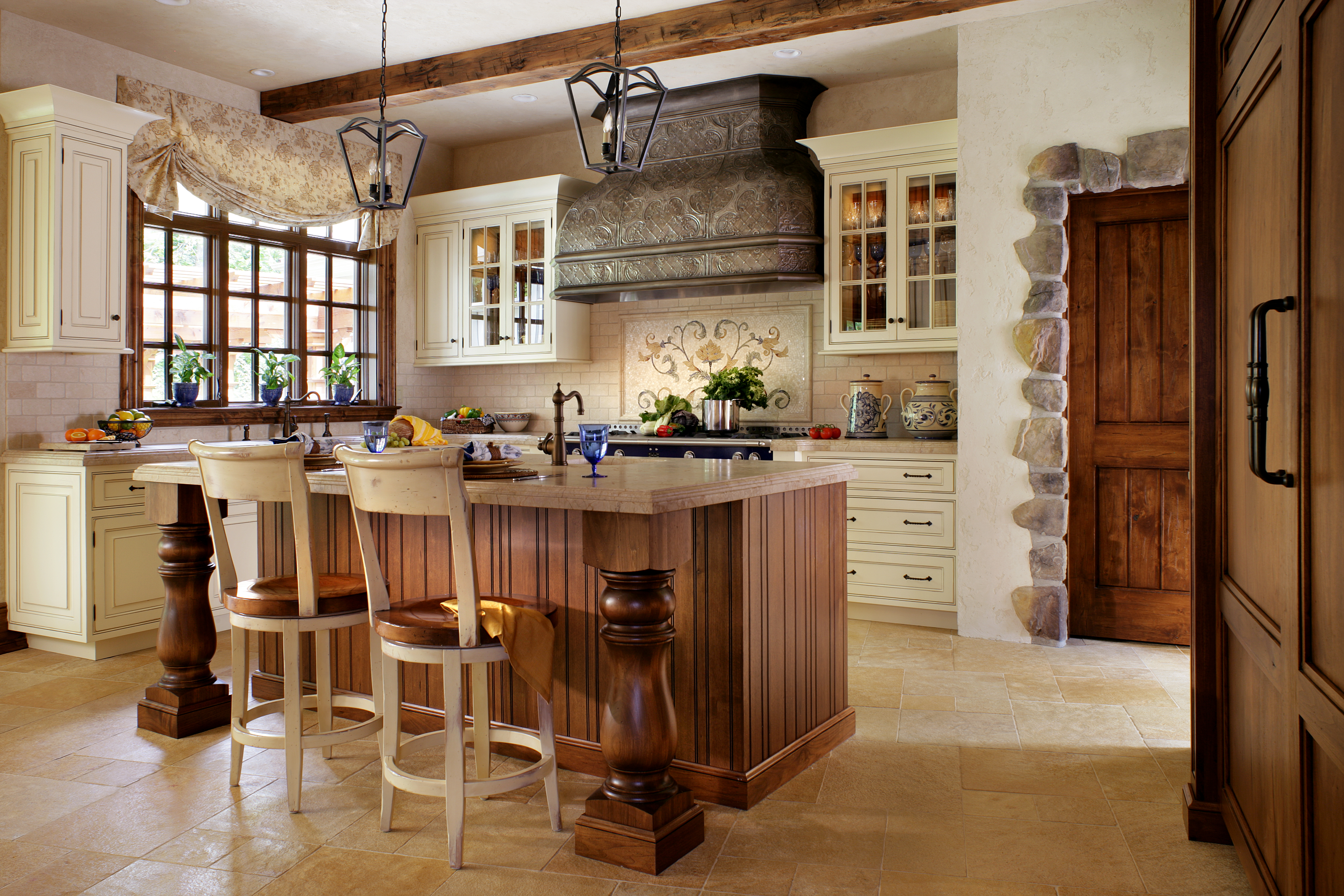 A Peter Salerno Inc. Custom Kitchen Design, With French  Inspirations.(Credit Peter
