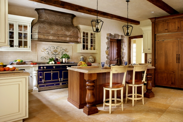 Our French kitchen design features a La Cornue oven (of course!)