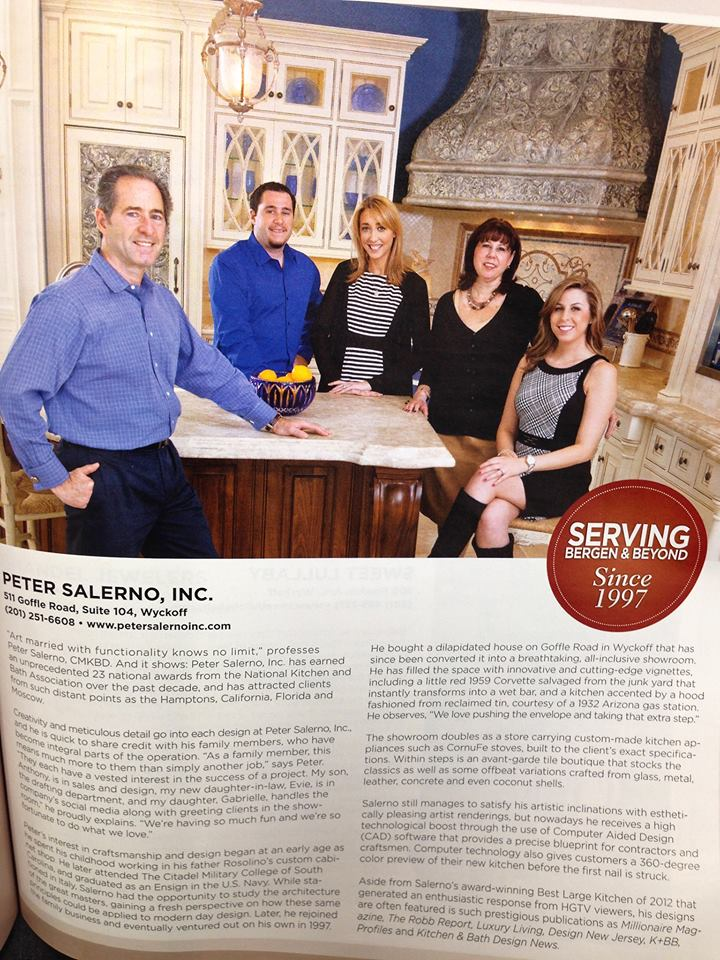 Peter Salerno Inc. Featured in (201) Magazine's Holiday 2013 Issue!