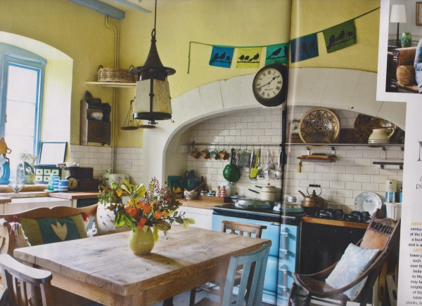 "Excuse the fold: a gorgeous Georgian kitchen, restored by readers of ""Period Living"". (Photo credit Lu Jeffery, Period Living)"