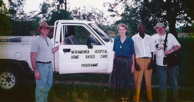Peter Salerno on a mission trip to Zimbabwe. Peter's charity was profiled by the NKBA. (Credit Peter Salerno)
