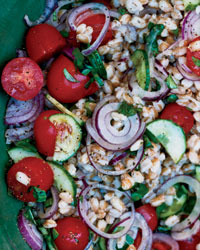 Summer Farro Salad. (Recipe by Marco Canora, Food&Wine. Photo credit John Kernick.)