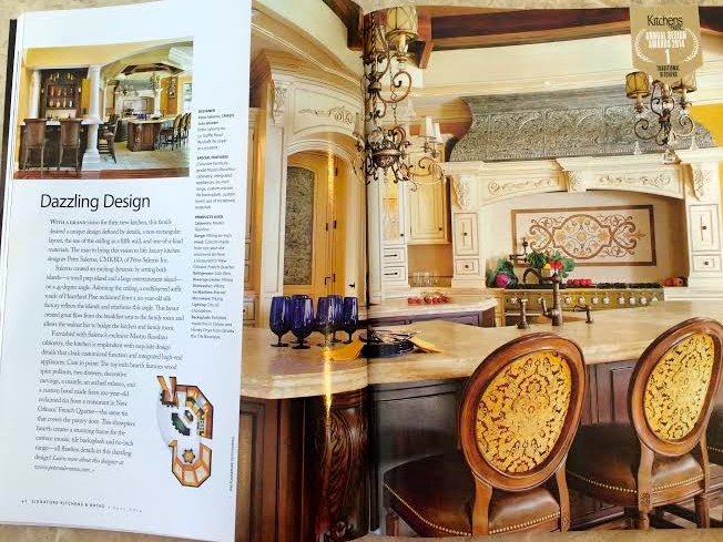 Peter Salerno Inc. wins 1st place, 2014 Best Traditional Kitchen. (Credit Signature Kitchens & Baths)