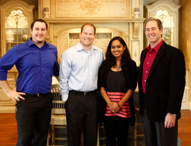Anthony Salerno, the NKBA's Andrew Mackenzie, Ash Sukumar & Peter Salerno in the Peter Salerno Inc. showroom.