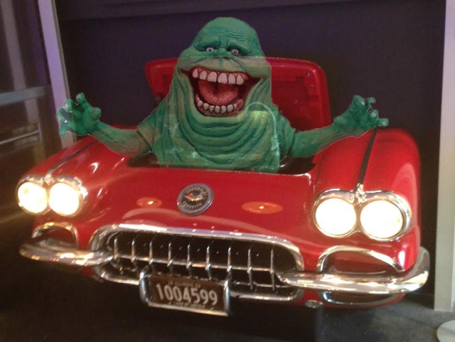 We caught Slimer hanging out in the Peter Salerno 1959 Corvette bar.