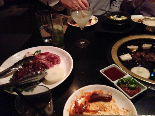 The beginning of a beautiful night of Korean cuisine at Do Hwa.