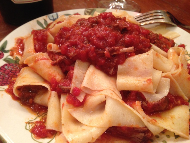 Peter Salerno's homemade black pepper pappardelle.