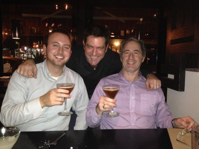 Peter Salerno with his son-in-law Brian and Terrence Segura, co-owner of Do Hwa Korean Restaurant.