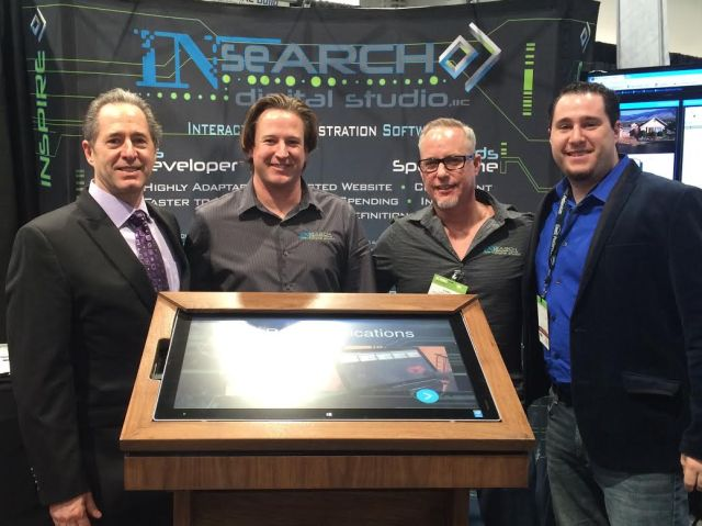 Peter Salerno (L), Anthony Salerno (R), and the team from INseARCH Design Studio at KBIS 2015.