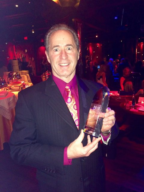 Peter Salerno with the 2015 2nd place national Best Large Kitchen award from the NKBA.