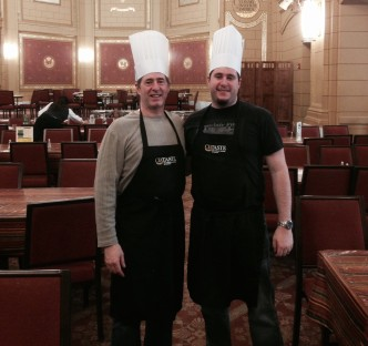 Peter Salerno and his son Anthony at Culinary Institute of America in New York.