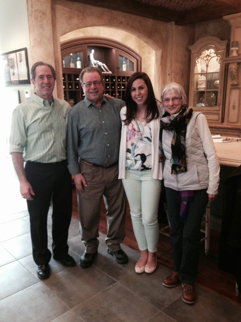 Peter Salerno and his daughter Gabrielle meet with Joe and Linda Calamari.