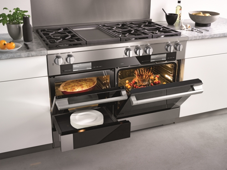 "The streamlined, revolutionary 48"" Miele dual fuel range."