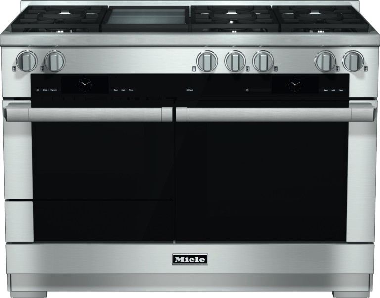 "The flagship 48"" Generation 6000 range from Miele, to be featured in the Peter Salerno inc. showroom."