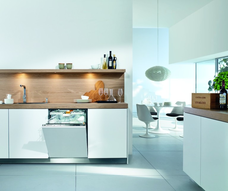 "The Miele Generation 6000 dishwasher with ""knock2open"" technology."
