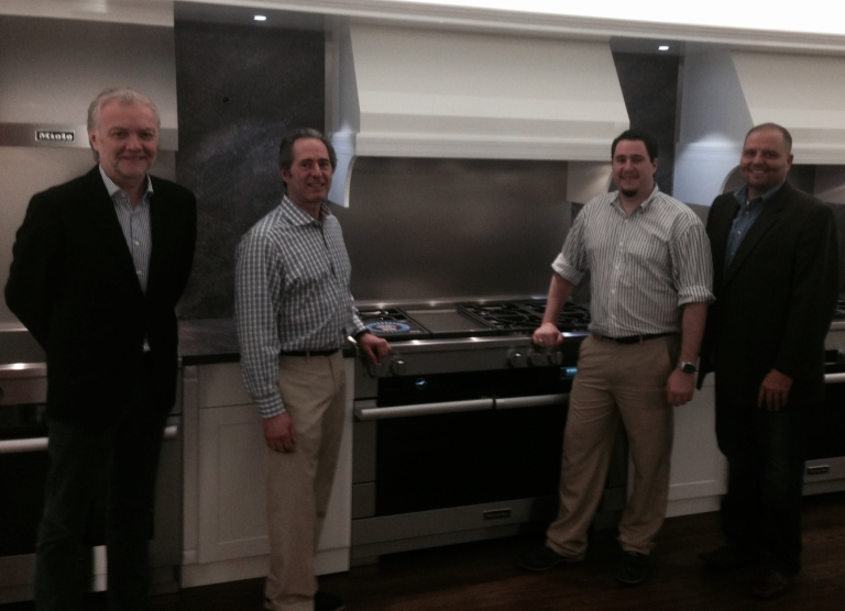 Exclusive photo from Peter Salerno's visit to Miele USA's Princeton showroom.