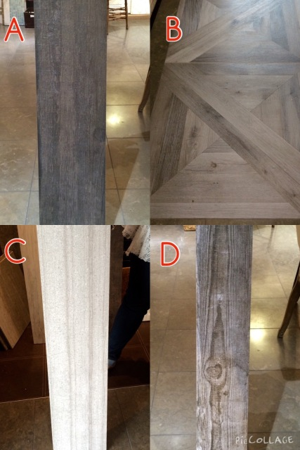 Which porcelain wood tile option would you choose? VOTE!
