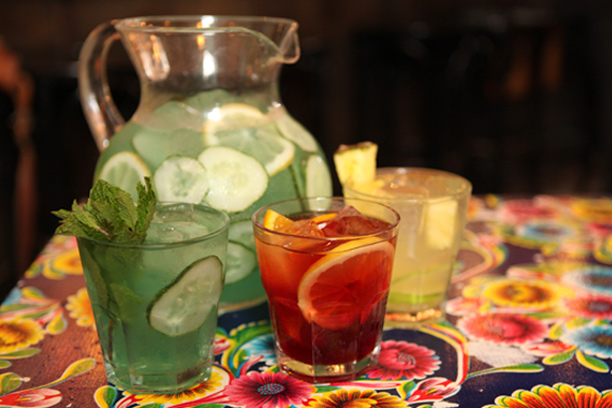 July 4th Red, White and Blue Sangria recipes (recipes & photo courtesy Epicurious)
