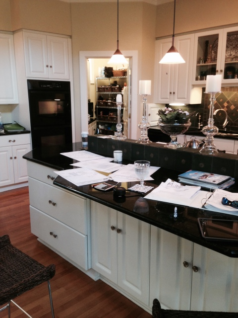 "And a ""lived-in"" look at the brand new kitchen design project from Peter Salerno Inc.!"