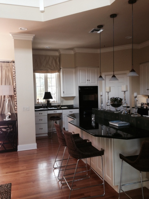 A BEFORE photo of the newest Peter Salerno Inc. kitchen design project.