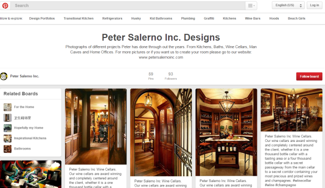 Check out the latest updates to Peter Salerno Inc.'s Pinterest design portfolio!