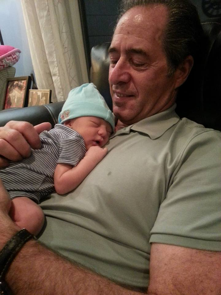 Peter Salerno with his beautiful granddaughter, Jesse Caren Salerno.