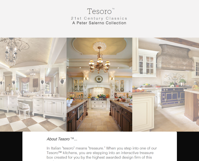 A screenshot from the gorgeous new Peter Salerno Inc. website