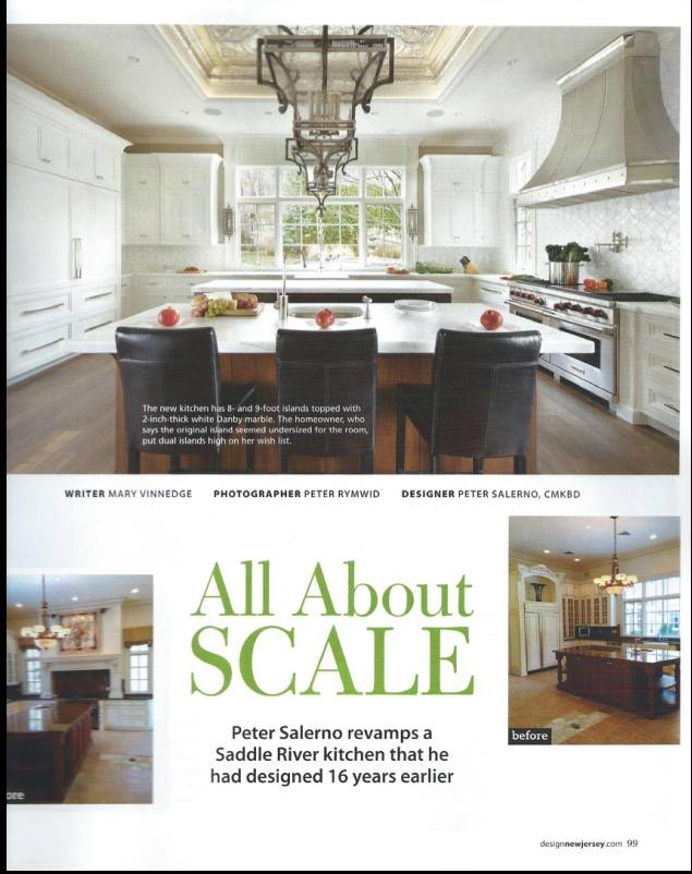 Peter Salerno Inc.'s new 2015 feature in Design New Jersey magazine. (Credits: Design NJ, Mary Vinnedge, Peter Rymwid)