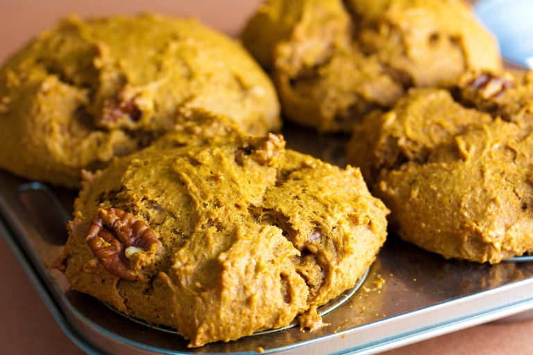 October Oatmeal Pumpkin Muffins recipe (credit AllRecipes)