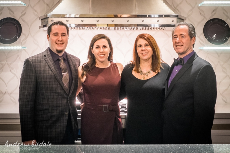 (L to R) Anthony, Gabrielle, Tracy and Peter Salerno in the Peter Salerno Inc. showroom.(Photo: Andrew Bisdale)