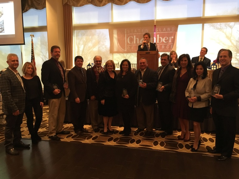 Award winners from the 2015 Staten Island Chamber of Commerce Building Awards (Peter Salerno at far right).