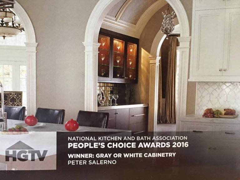 Peter Salerno Inc.'s 2016 HGTV People's Choice Award. (Credit: HGTV)
