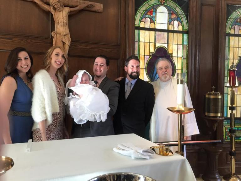 Jesse Caren Salerno christening, photos courtesy of Peter Salerno Inc., 2016.
