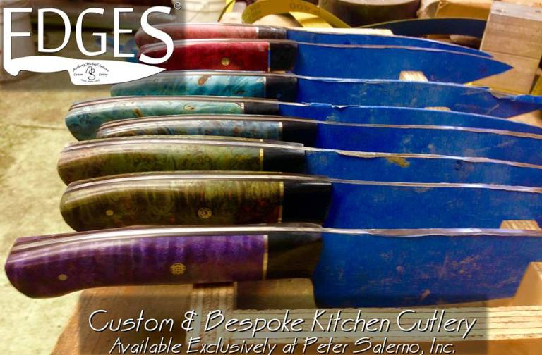 A sneak peek at the debut EDGES custom cutlery collection from the finishing room!