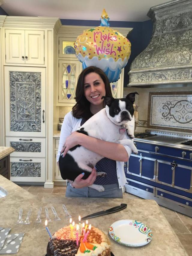 Gabrielle celebrates her birthday at Peter Salerno Inc. (with office puppy Harper!)