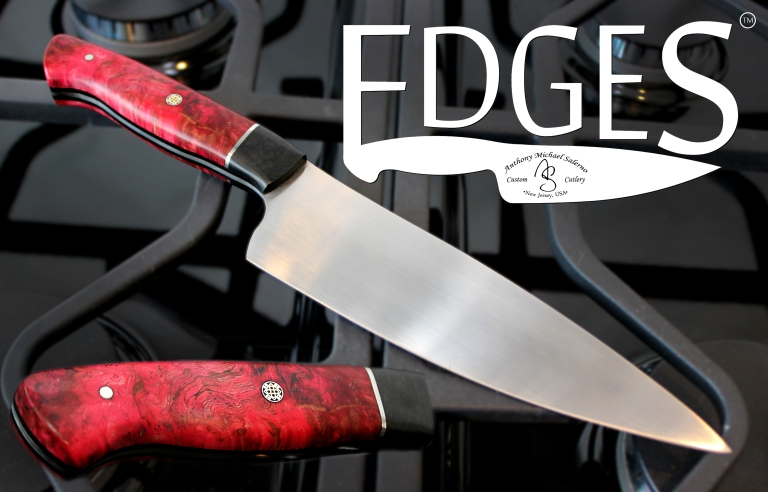 The Red Monarch, one of the debut knives in the EDGES custom cutlery collection from Peter Salerno Inc.!