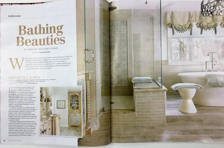 Pick up (201) Magazine's Home Issue to see a Pete rSalerno Inc. bath design - how does it feature Al Capone?