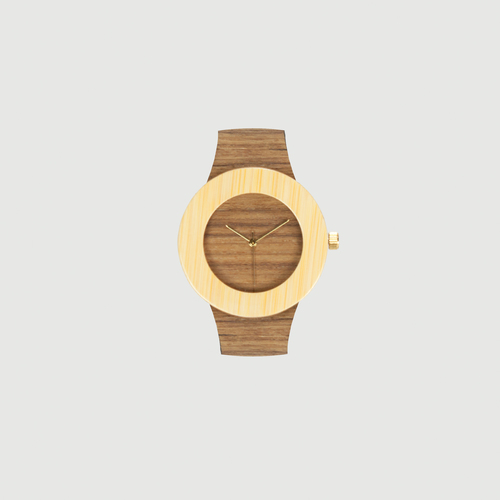The Teak & Bamboo watch from Analog Watch Co. - perfect for Father's Day 2016! (Credit: Analog Watch Co.)