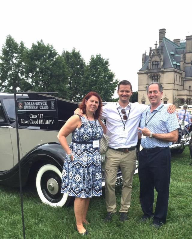 Peter and Tracy Salerno with Edward Jordan, Director of Partnerships, at Rolls Royce Owners Club USA 2016 Event. (Photo: Peter Salerno Inc.)
