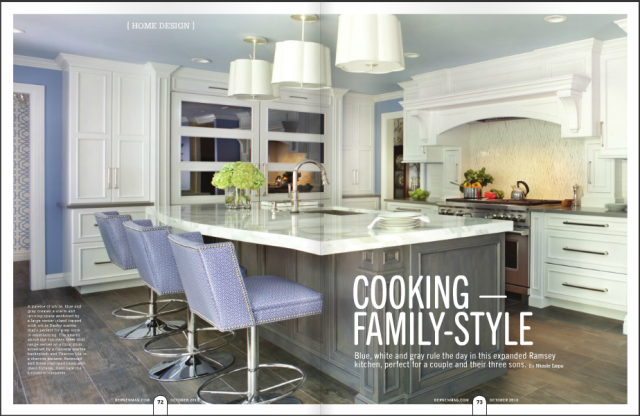 Bergen Magazine Fall 2016 edition, featuring Peter Salerno Inc. transitional kitchen design photos.