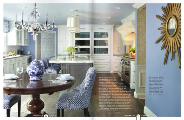 Bergen Magazine Fall 2016 edition, featuring Peter Salerno Inc. transitional kitchen design photos.