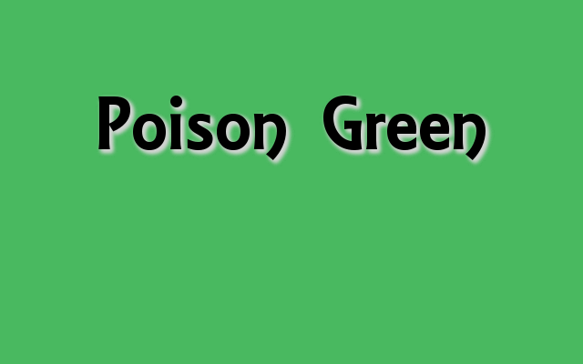 Poison Green Pantone Color, Halloween party colors