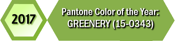Pantone's 2017 Color of the Year is Greenery (15-0343).