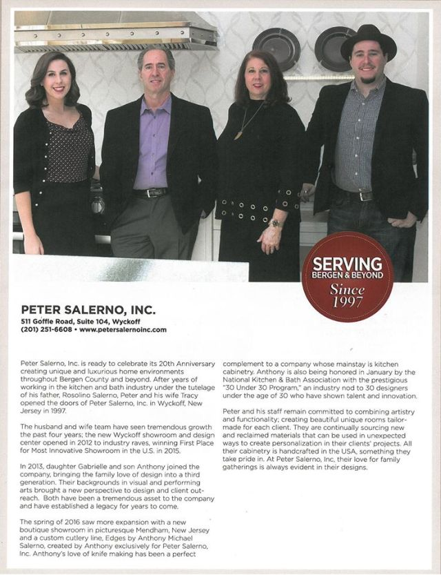 Peter Salerno Inc. is a featured business in 201 Magazine's latest issue.